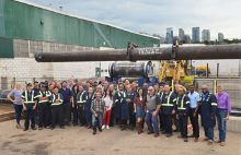 Image Erosion resistant pipe delivered to Oil Sands in Alberta