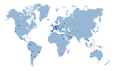 ROSEN Group Locations & Representatives in the world.