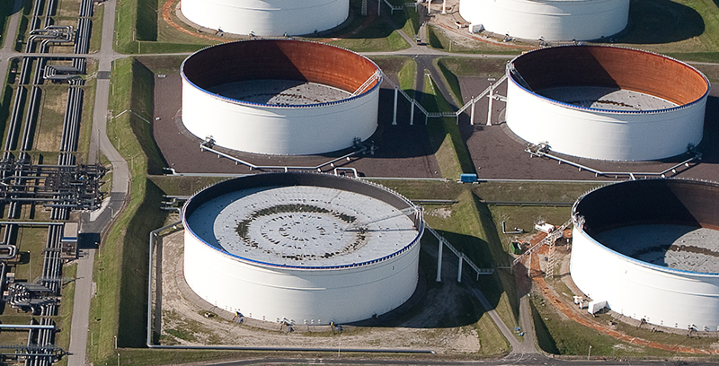 Figure 1 - ROSEN was contracted to inspect a raw water tank with a diameter of 50 meters