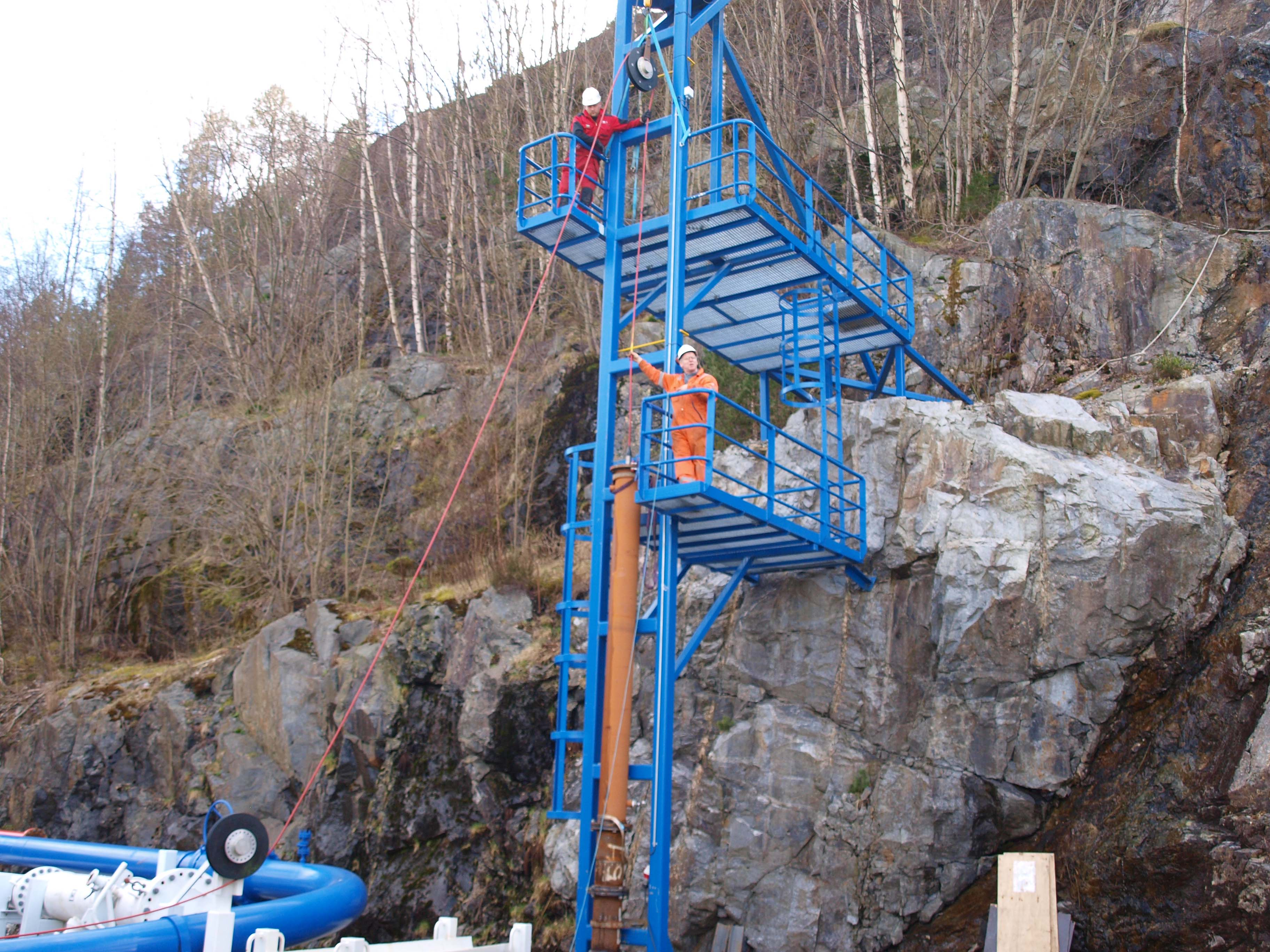 Figure 2 – Riser tower for testing vertical inspections