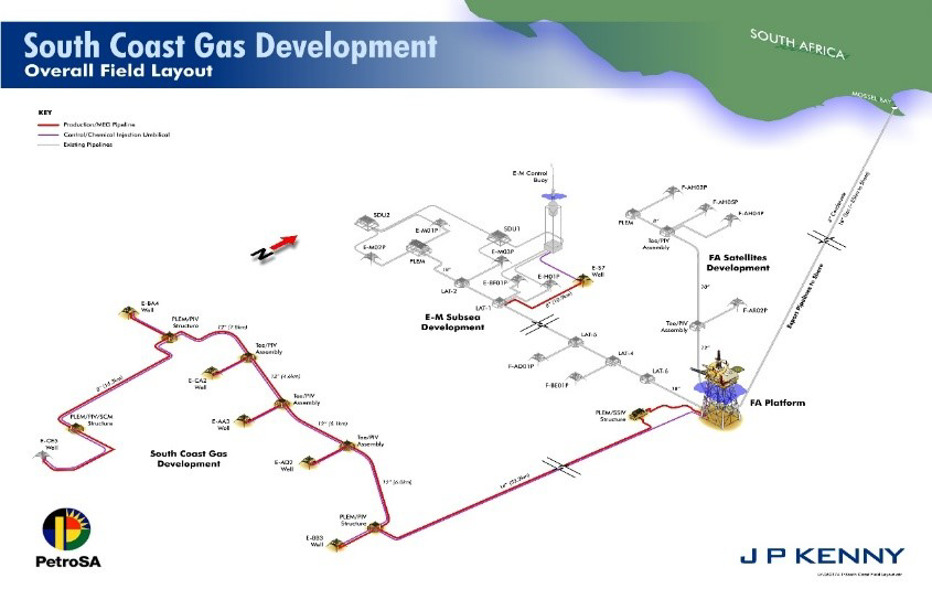 Figure 1 – PetroSA gas and condensate production offshore facility