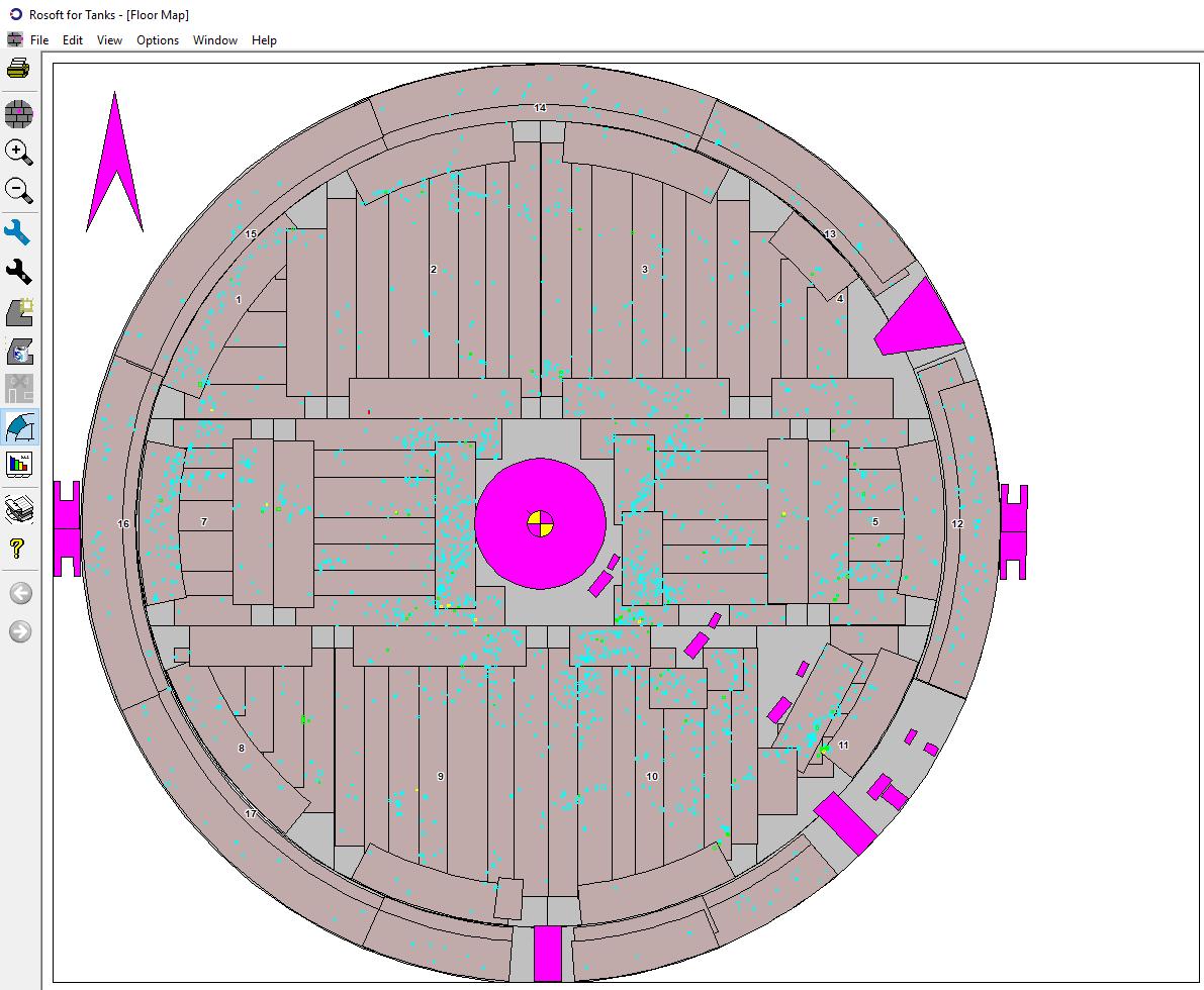 Figure 2 – Overview of the floor map