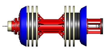 Figure 2: CIRC (left) and AXUS (right) are ideal for the entire inspection of pipe body including at supports or hangers.