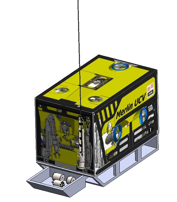 Figure 5 - The ROV with the inspection tool parts secured