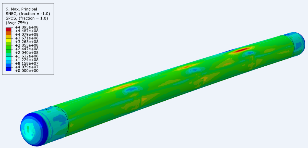 Figure 13: 3D laser scan in FEA environment