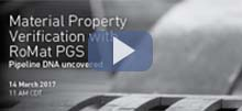 Webinar: Material Property Verification with RoMat PGS